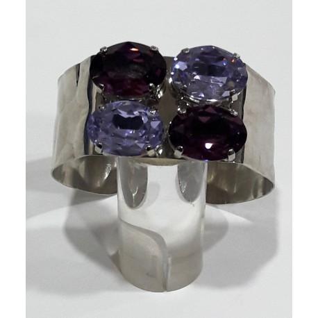 Pulsera cristales morados