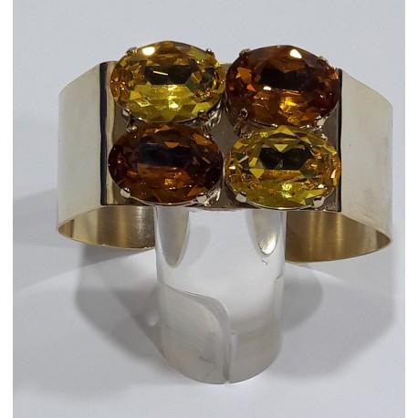 Pulsera cristales amarillos