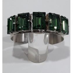Pulsera cristales verdes