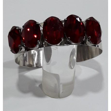 Pulsera cristales rojos